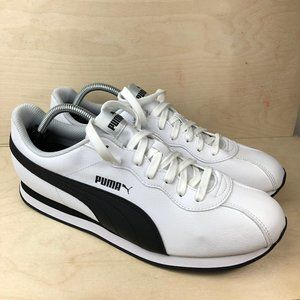 Puma Turin II White & Black Sneakers Mens Sz 11.5